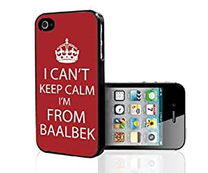 """Red and White """"Keep Calm, I'm From Baalek"""" Hard Snap on Phone Case (iPhone 5/5s)"""