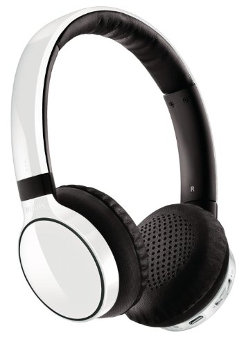 Philips SHB9100 White Wireless Bluetooth Over-the-Head Stereo Headphone with Superior Bass & Optimum Clarity by Philips