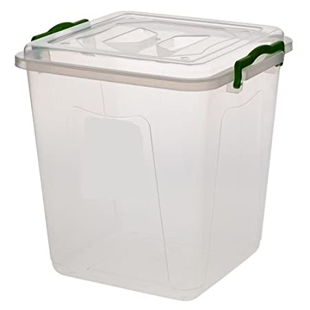 Small Large Clear Plastic Storage Boxes Ideal for Kitchen Food
