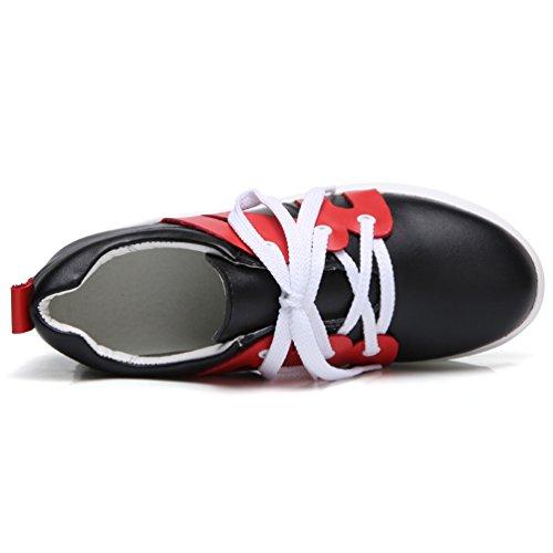 Mocassins Antidérapantes Noir Marche Athlétique Jrenok Baskets 7 Sneakers Rouge De Femme Cm Chaussures Respirant Running Haute À Compensé HgnnxqZa0w