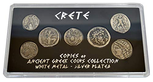 Estia Creations Crete Historical Replica 7 Silver Plated Coins - Ancient Greece