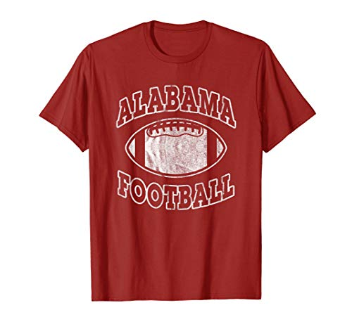 Red Classic Arched T-Shirt - Alabama Football Vintage Distressed