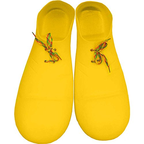 [Forum Novelties Yellow Jumbo Clown Shoes] (Adult Yellow Clown Shoes)