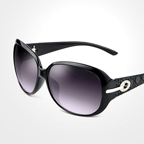 X165 de A las de las marco gafas la sol señoras grandes gafas de Color Gafas manera de sol B gafas de sol Polarizer QQB del de CSaABqww