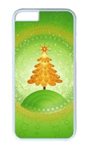 MOKSHOP Adorable Green Christmas Tree Hard Case Protective Shell Cell Phone Cover For Apple Iphone 6 Plus (5.5 Inch) - PC White