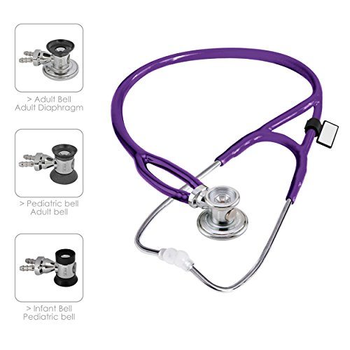 Mdf 767X 08 2 In 1 Deluxe Sprague Rappaport Stethoscope  Universal Purple