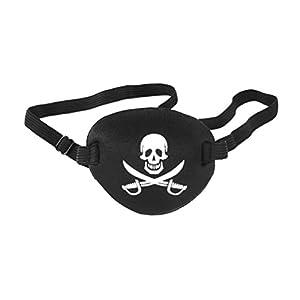 - 41T 2B1c3pQ0L - WINOMO Pirate Skull Crossbone Children Kids Eye Patch Eye Mask for Lazy Eye (Black)