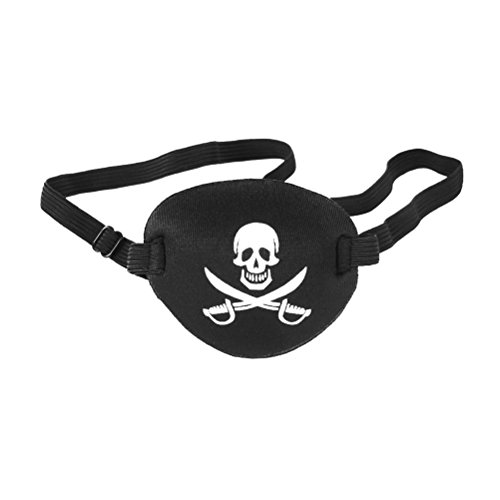 NUOLUX Eye Patch Mask Skull and Cross Bones with Adjustable Strap Color ()