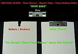 50 Pack VERTICAL BLIND Vane Saver ~ Zinc Curved Repair Clips ~ Fixes Broken Holes