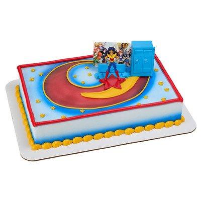 Amazon DC Super Hero Girls Move Over Boys Cake Topper Decoration Set Toys Games
