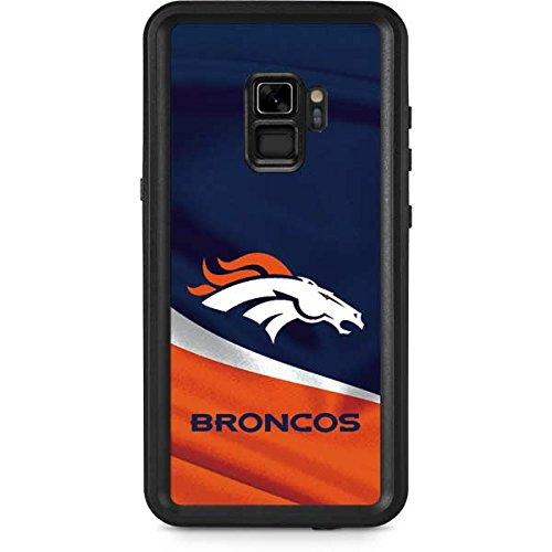 Skinit NFL Denver Broncos Galaxy S9 Waterproof Case - Denver Broncos Design - Sweat-Proof, Snow-Proof, Dirt-Proof, Dust-Proof Phone Cover