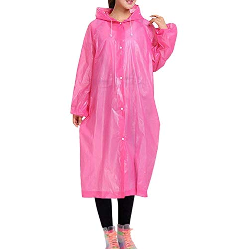 All'aperto Pink Trasparente Impermeabile Classiche Donne Pieghevole Fashion Laisla TnCO66