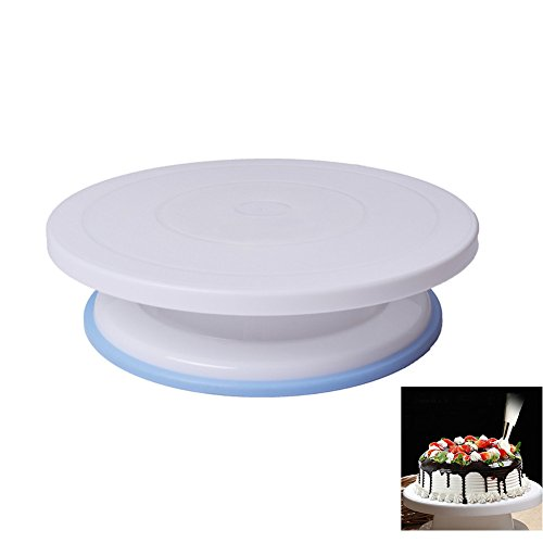 Make Dj Coffin (11-Inch,Non-slip Bottom Plastic Cake Decorating Decorate Turntable,Decorate Stand by Rekukos)
