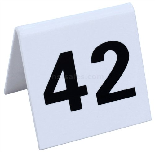 New Star 26764 26 to 50 Tent Style Acrylic Table Numbers, 2 by 1.7-Inch, White