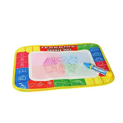 kecooi Kids Baby Unisex Reusable Portable Square Cartoon Magic Water Doodle Mat (type3)