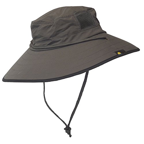 Spf 50 Sun Protection (Sun Protection Zone Unisex Lightweight Adjustable Outdoor Booney Hat (100 SPF, UPF 50+) - Charcoal)