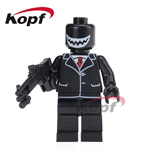 1 piece Super Heroes Bridegroom Custom Made Tuxedo Suit Party Decor Cake Topper Bricks Building Blocks Education Toys for children KL066