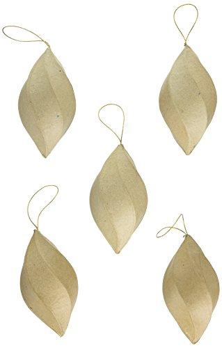 Craft Pedlars CPL1003843 Paper Mache Craft Ped Paper Mache Ornament Swirl (Craft Pedlars Paper Mache)