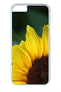 Personalized Custom Cases for iPhone 6 PC White Edge - Sunflower 8 Cover