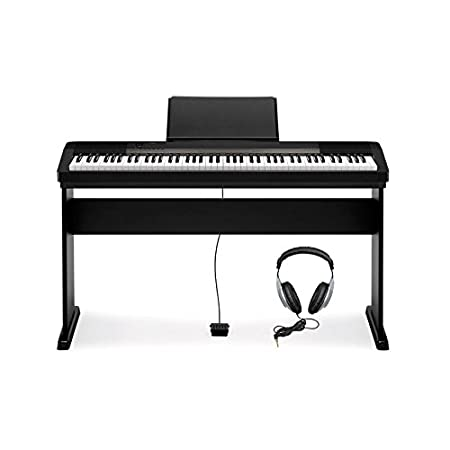 Casio CDP Piano digital con soporte teclas notas canciones color negro