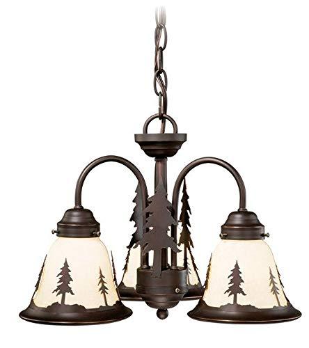 Vaxcel LK55516BBZ-C Yosemite 3L Light Kit, Burnished Bronze, Brown