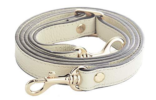 (SeptCity Top Quality Grain Leather Adjustable Shoulder Straps -1.8 CM Width(20 Color)(Beige))