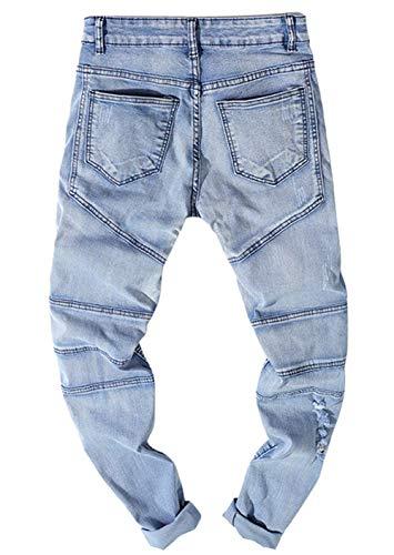 Jeans Adelina Pantaloni Abbigliamento Strappati Hole Colour Strappati Uomo Faltig Da Uomo twgr7tq4d