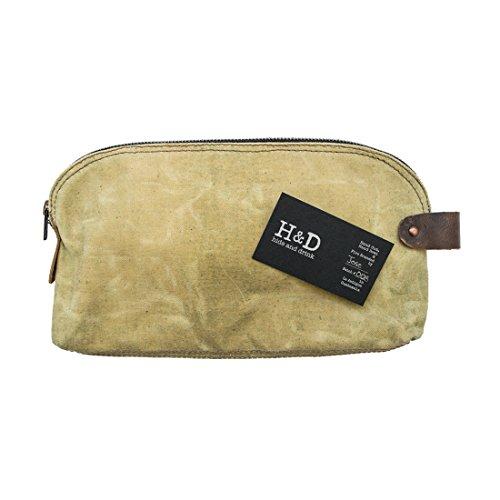 Wasserfeste Multifunktions-Tasche aus Wachstuch mit Leder-Innenleben