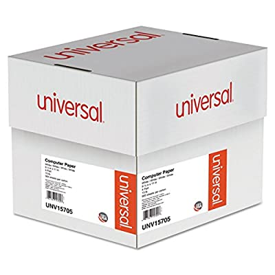 """Universal 4-Part Carbonless Paper, 15lb, 9-1/2"""" x 11"""" , Perforated, White, 900 Sheets (15705)"""