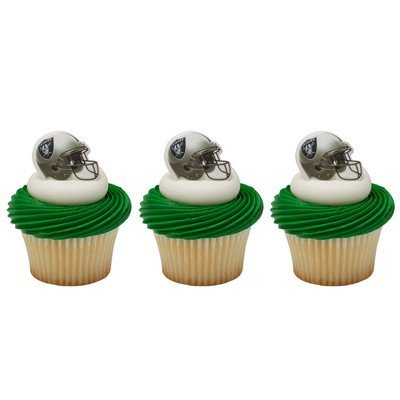 Oakland Raiders Cupcake Rings 24 Count