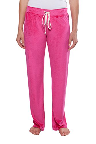 Texere Women's Velour Lounge Pants (Royal, Rose Red, Small) Comfortable Activewear for Women WB0201-RSR-S