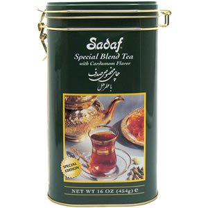 Sadaf Special Blend Tea, in Tin 16 oz (Cardamon)