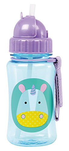 Skip Hop Baby Zoo Little Kid and Toddler Feeding Travel-To-Go Flip Top Straw Bottle, 12 oz, Multi Eureka Unicorn (Flip Chart Ease compare prices)