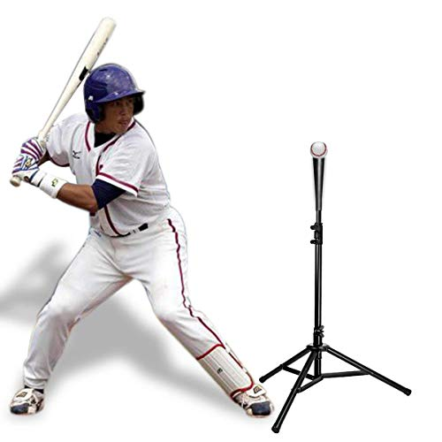 Tee Baseball Topper - Cyfie Batting Tee, Baseball Tee, [Shipped from U.S] Softball Travel Tee, Portable Tee Tripod Stand Rubber Topper, for Batting Training Practice