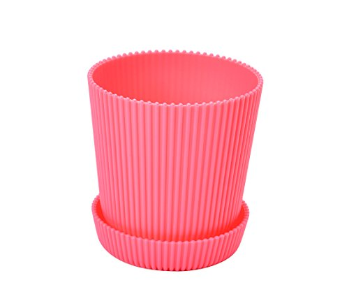 3.7 Inch Round Flower Plant Pots Planter Flower Plant Container with Saucer Pallet,Pink,320 Counts by Zhanwang