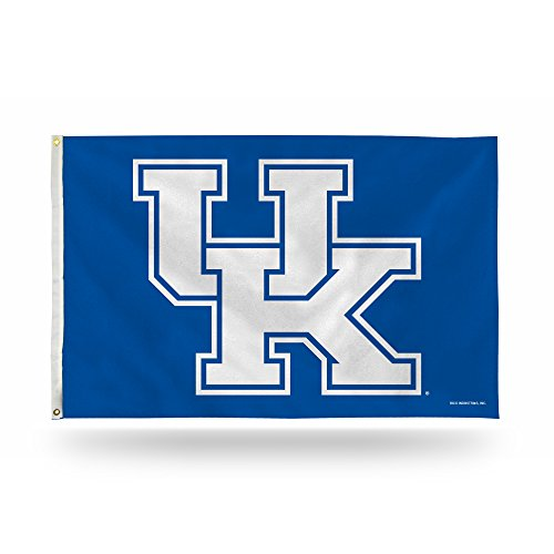 Rico Industries NCAA Kentucky Wildcats 3-Foot by 5-Foot Single Sided Banner Flag with Grommets ()