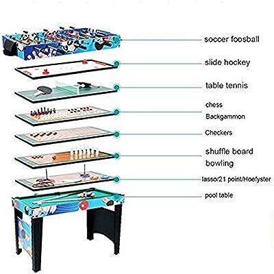 JJSFJH Futbolín Mesa de Juego en Miniatura 12 en 1 Combo Juego de Mesas de Entretenimiento Mesa de 42
