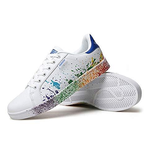 Casual Tela Puede De Pu Zapatillas Calzado Zapatos Four Usar Blanco Unisex Wwjdxz Tabla Seasons Hombre Azul wagEXTqWx