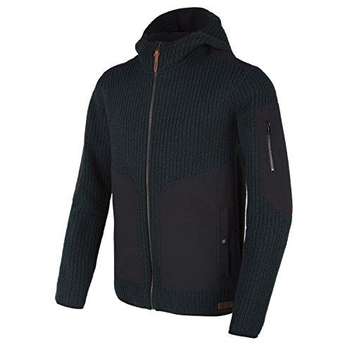 CMP Jacke Wolljacke Freizeitjacke grün Zipper Kapuze Taschen wärmend Gr. 50 3M31067