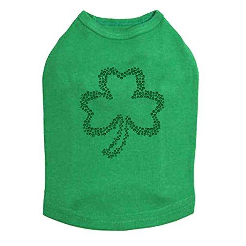 - , Shamrock # 2 - St. Patricks Day Rhinestone Dog Shirt