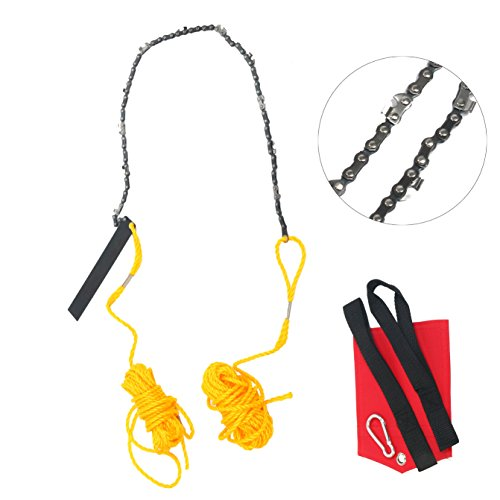 YaeTek Rope and Chain Saw 48 Inch High Reach Limb Hand Chain Saw Comes with Blade Sharpener, Ropes, Throwing Weight Pouch Bag (48 Inch)