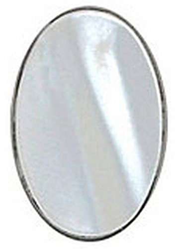 (David Van Hagen Mens Mother of Pearl Oval Sterling Silver Tie Tac - Silver)