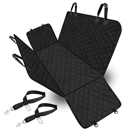 Veken Dog Seat Cover for Cars Trucks and SUVs, 600D Heavy Duty Pets Car Seat Cover, Waterproof & Wear-Resistant Durable Nonslip Backing & Hammock Convertible