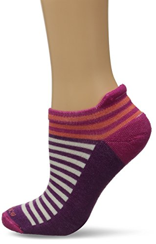 Goodhew Women's Navigator Stripe Micro Socks, Small/Medium, Azalea