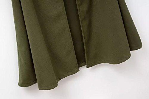 Femme Élégante Taille Vert Grande Hiver Eozy Longue Veste Capuche Manteau Chaud Cape qBxntwIpWC