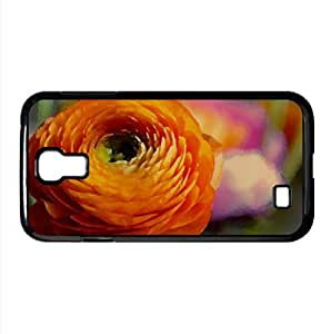 Orange Flower Watercolor style Cover Samsung Galaxy S4 I9500 Case (Flowers Watercolor style Cover Samsung Galaxy S4 I9500 Case)