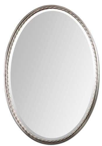 Uttermost 01115 Casalina Brushed Nickel Twisted Rope Oval Wall Mirror from Uttermost