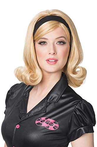 (Franco Womens 60s Flip Wig with Headband Costume)
