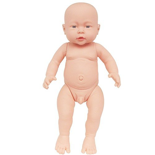 - Rifi 16 Inches Nontoxic High Simulation Naked Latex Rotocast Baby Doll Boy (You can Help The Doll to wear Clothes)