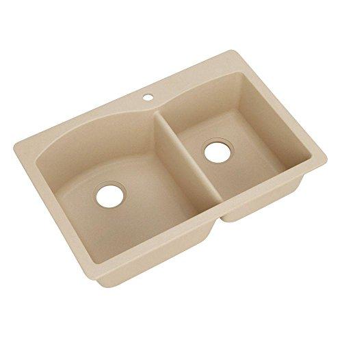 Blanco 441216 Diamond 1-3/4 Bowl Silgranit II Sink, Biscotti ()